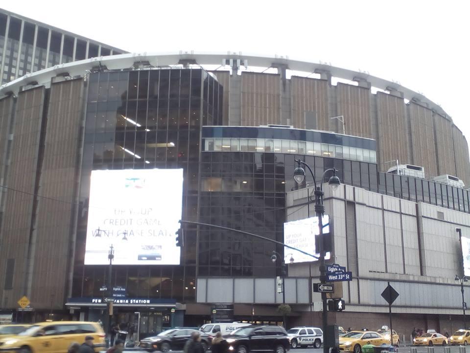 MADISON SQUARE GARDEN MANHATTAN NEW YORK.