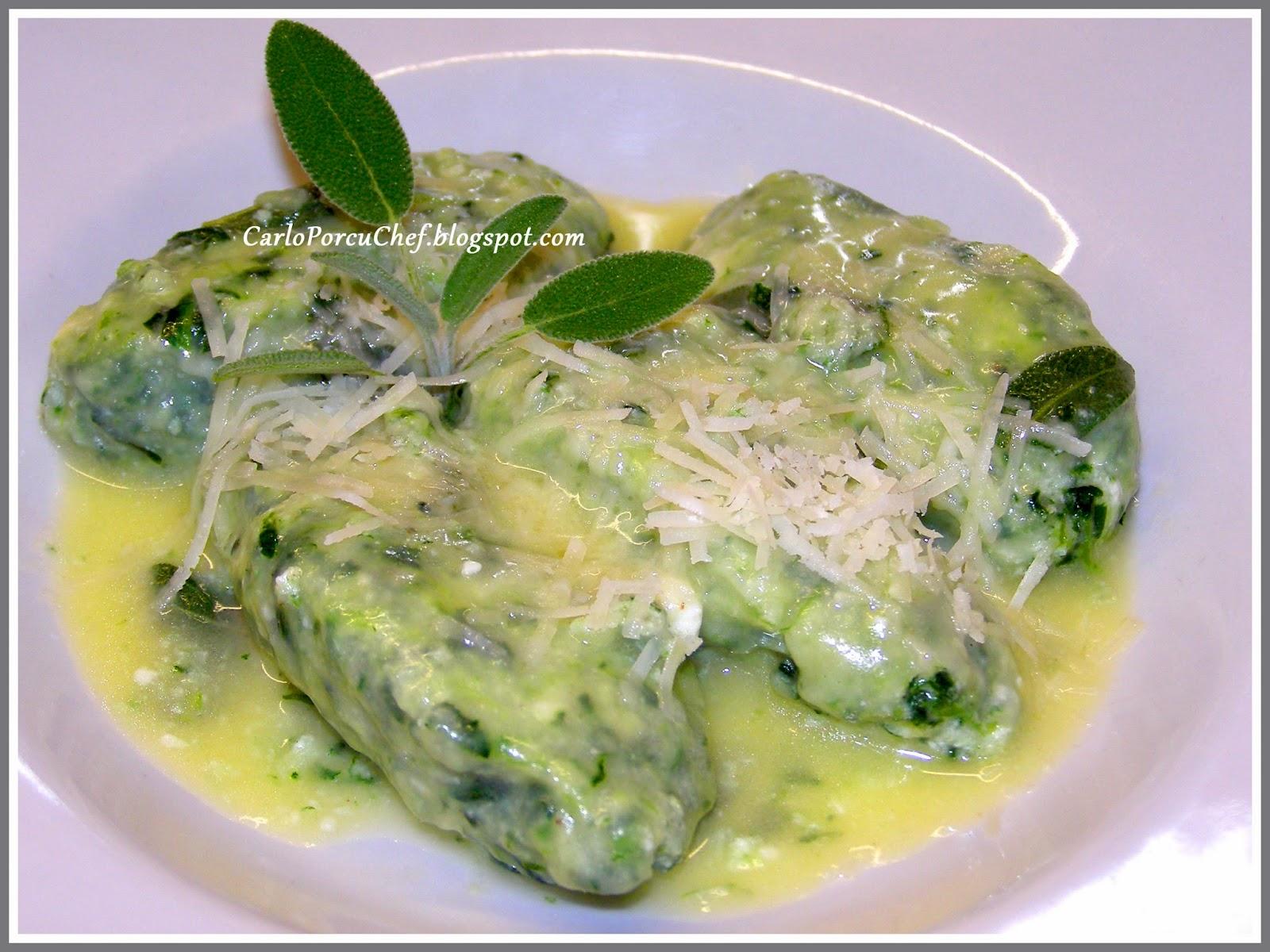 Gnudi Ricetta In English.Carlo Porcu Chef Ricetta Gnudi Con Burro E Salvia