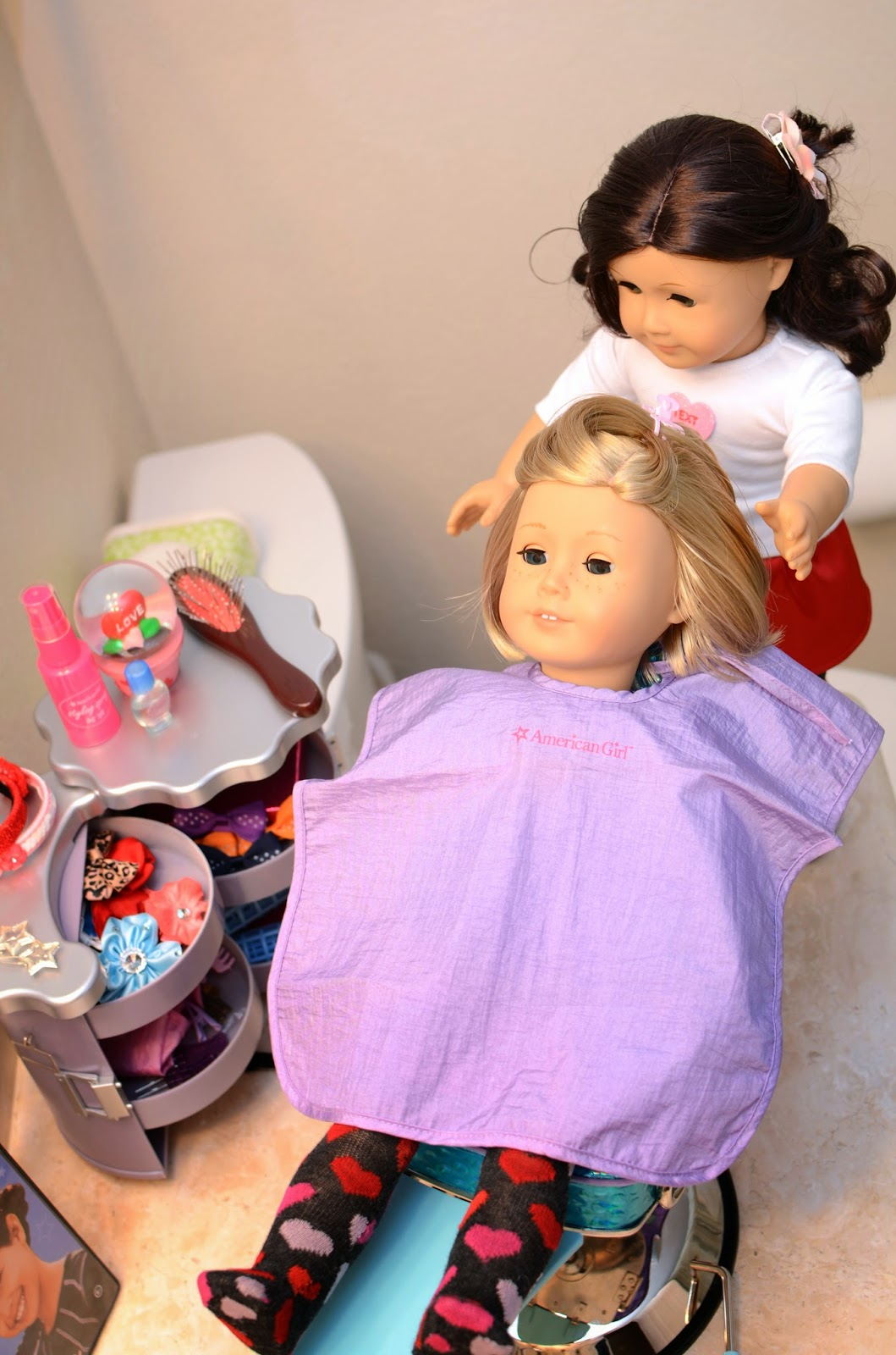 doll salon chair countertop height kitchen chairs cc 39s swag and diy the beauty for our ag dolls