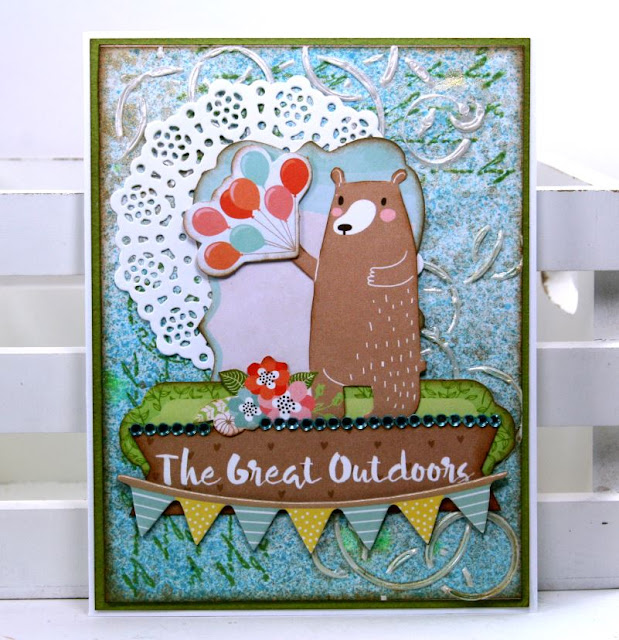 Mixed Media Card Set By Ginny Nemchak Using BoBunny Weekend Adventures and Pentart