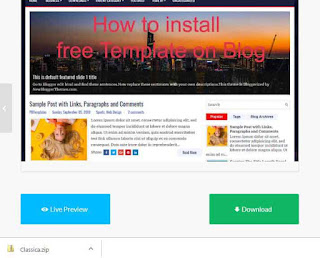 how to install responsive tamplate on blogger 2019