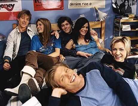 the o.c. season 1 promotional photos behind the scenes ryan, summer, seth, marissa, luke, anna