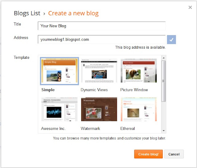 How to Create High Quality Blog Web Site Blogger Google Home Page
