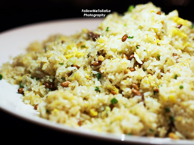 Fried Rice With Goose Liver Pate & Pine Nuts