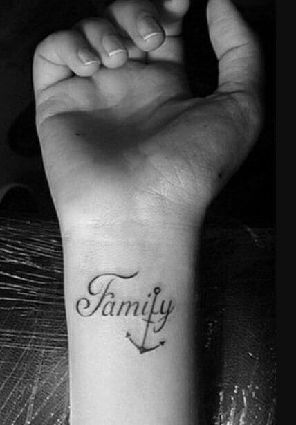 45 beautiful family tattoos with meaning 2018 for Wrist family tattoos