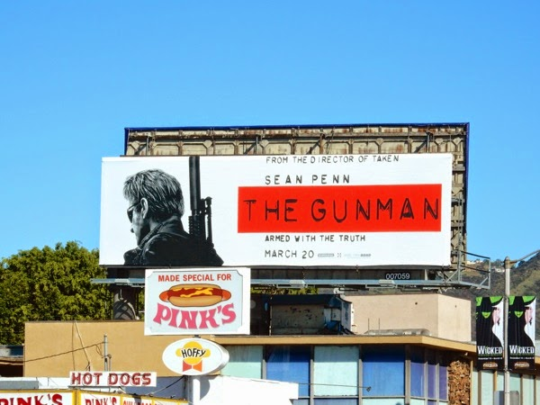 The Gunman film billboard