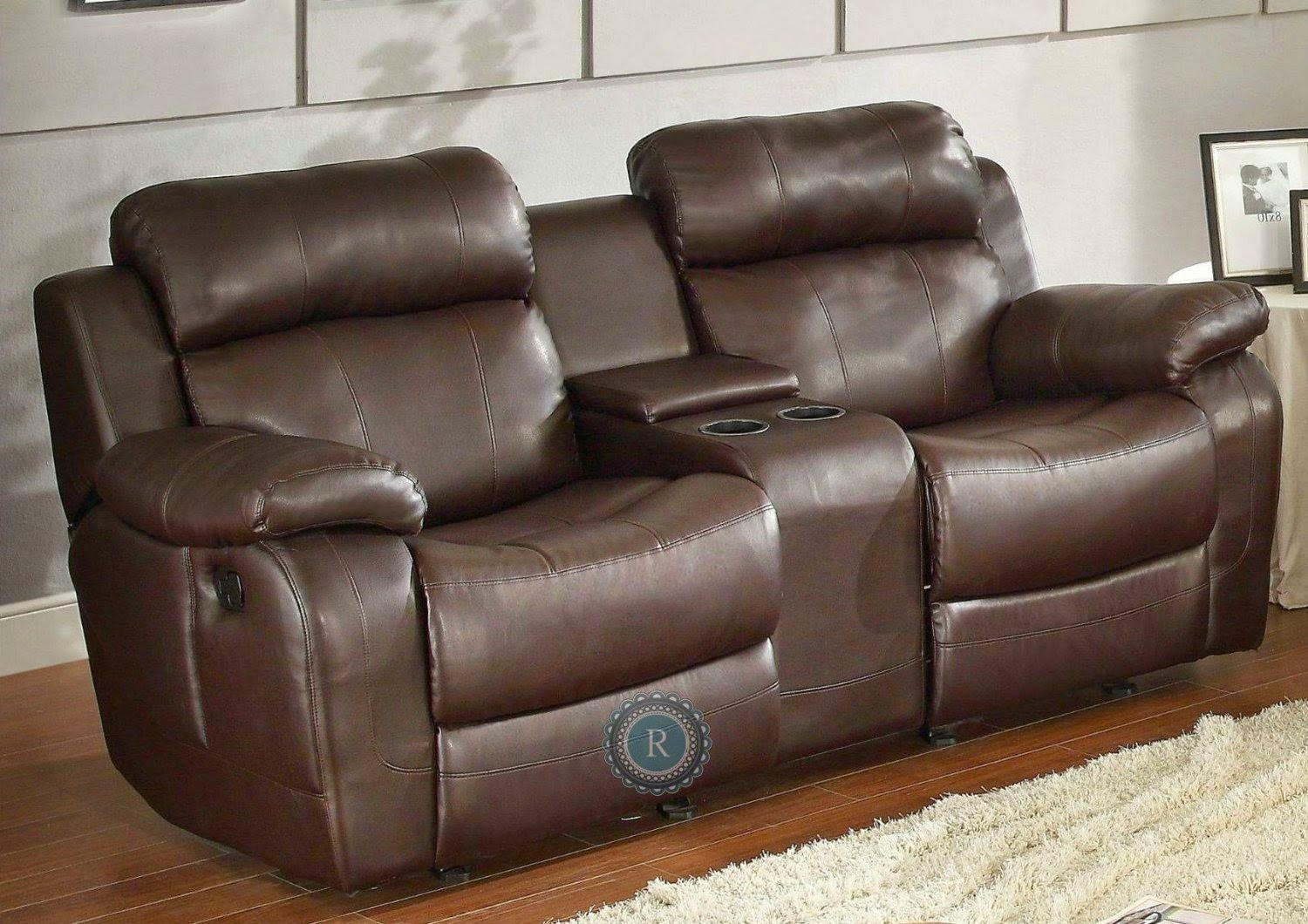 Modern cheap reclining sofa reviews reclining sofa with center console Reclining loveseat with center console