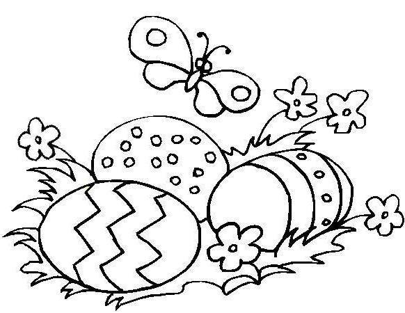 Free Coloring Pages: Easter Eggs Coloring Page