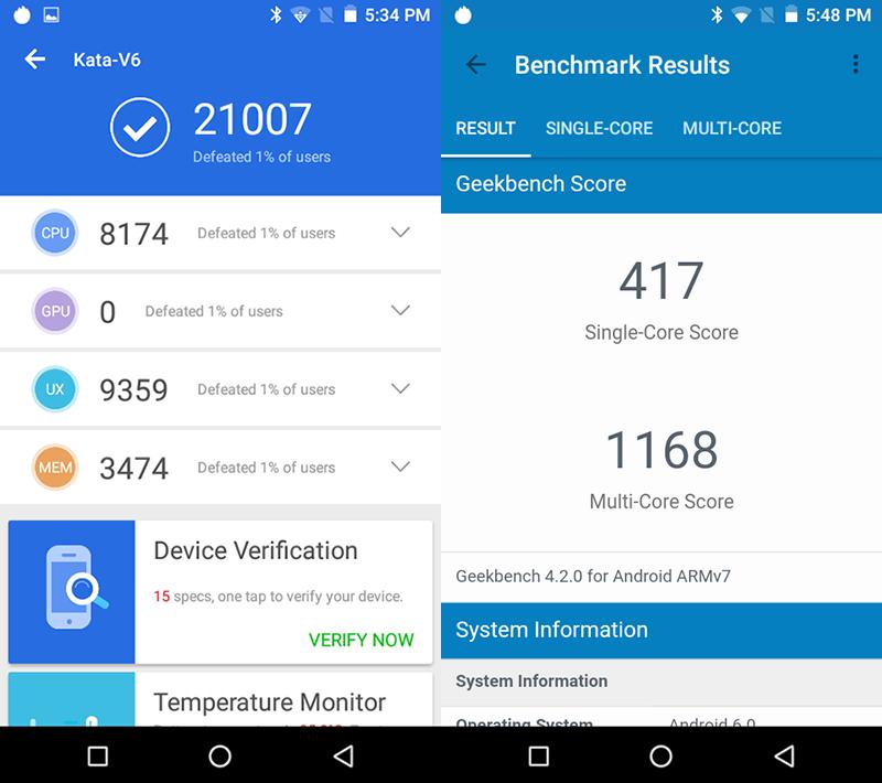 Kata V6 benchmark results