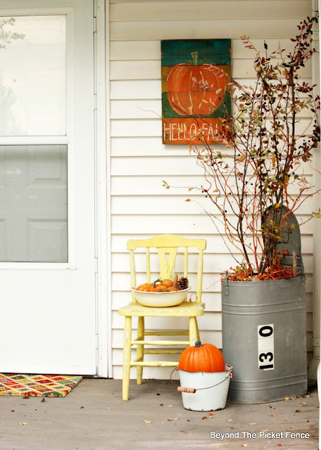 use thrift store finds to decorate for fall