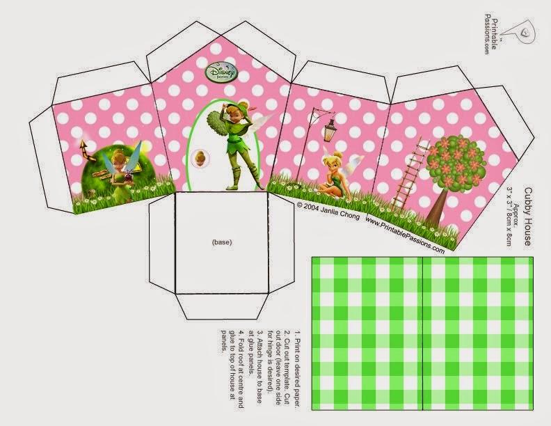 Tinkerbell: Caja con Forma de Casa para Imprimir Gratis. | Ideas y ...