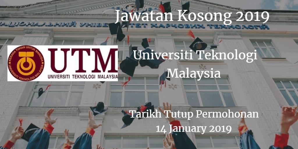 Jawatan Kosong UTM14 January 2019