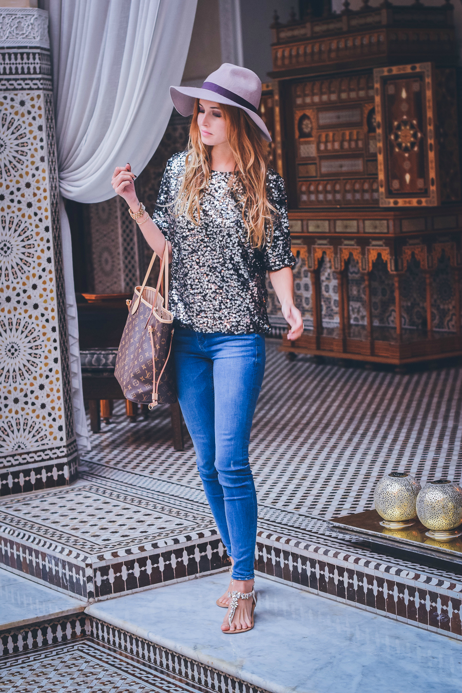 Fashion Blogger in Royal Mansour