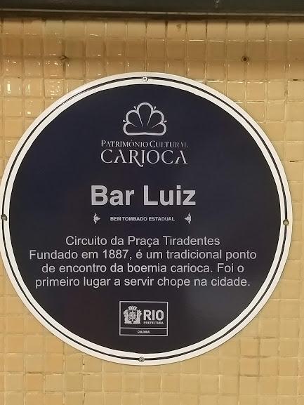 Bar Luiz - Patrimônio Cultural