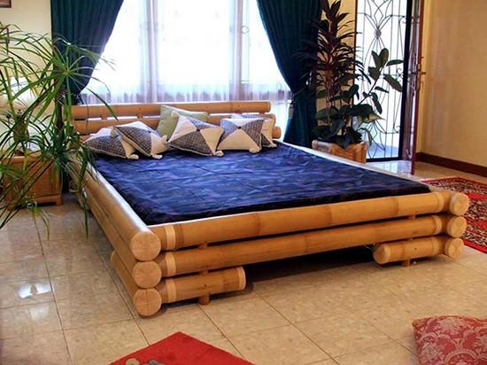 model tempat tidur bambu 2