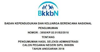 Pengumuman Hasil Seleksi Administrasi BKKBN