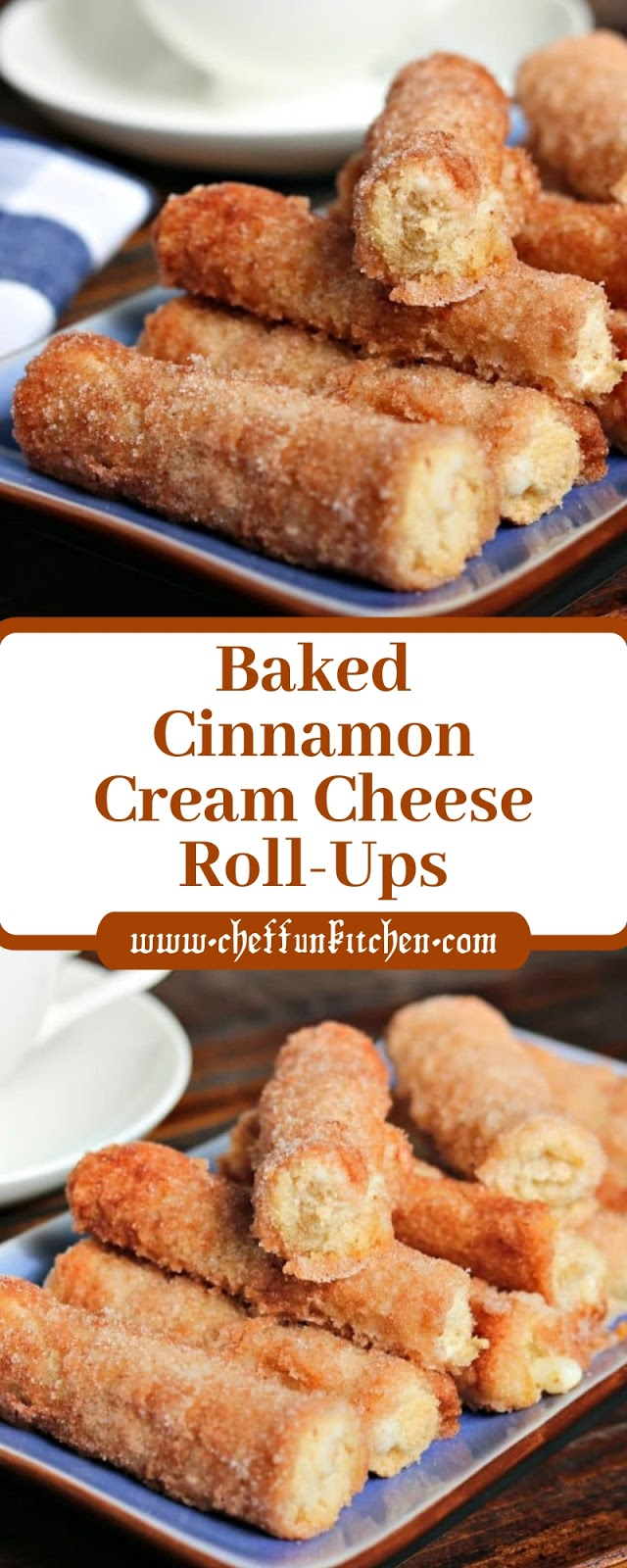 Baked Cinnamon Cream Cheese Roll-Ups