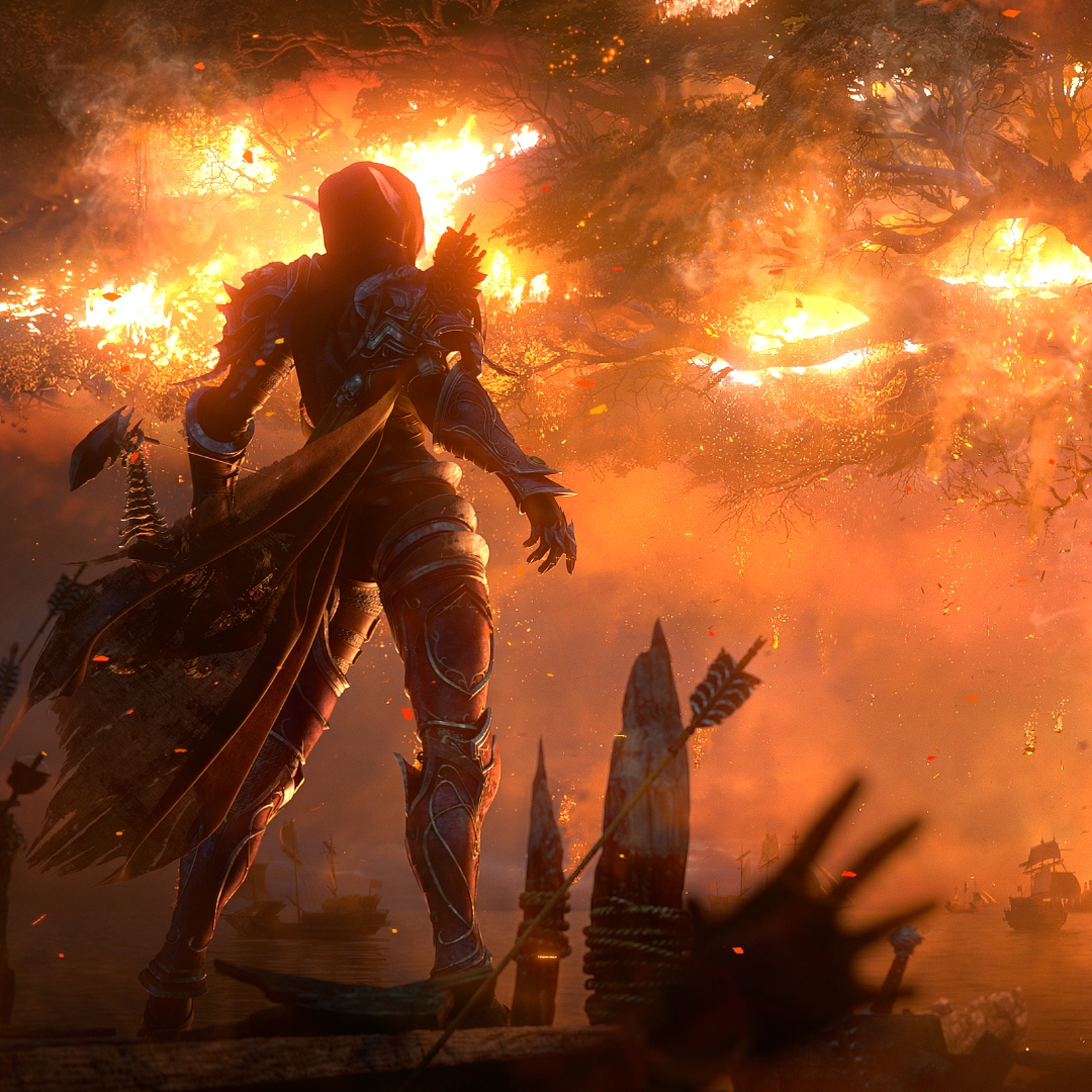 Sylvanas Burning Teldrassil World Of Warcraft Battle For