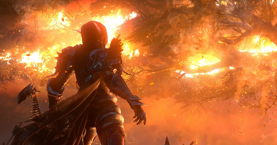Sylvanas Burning Teldrassil World Of Warcraft Battle For