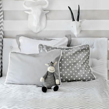 chevrons antlers gray nursery