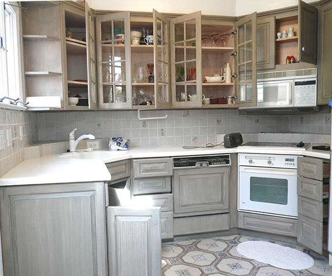gray distressed kitchen cabinets confessions of a diy aholic my kitchen 16005