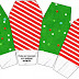 Navidad a Rayas: Cajas para Imprimir Gratis.