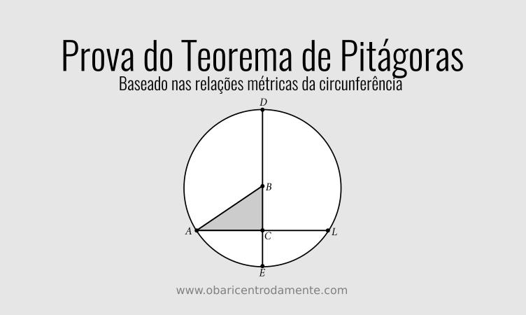 Prova do Teorema de Pitágoras, baseado nas relações métricas da circunferência