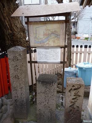 神津神社十三の道標配置図