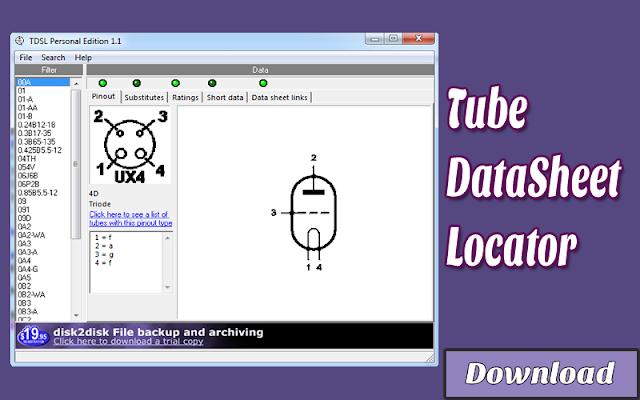 Download Tube DataSheet Locator | Kalkulator / Info & Softwares Elektronika