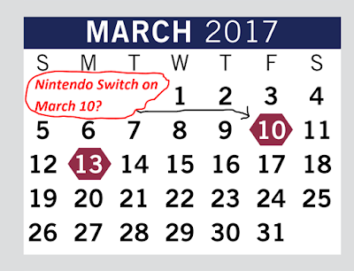 March 2017 calendar free student days high school Nintendo Switch release fake