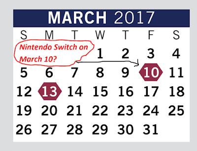 March 2017 calendar free student days high school Nintendo Switch release fake