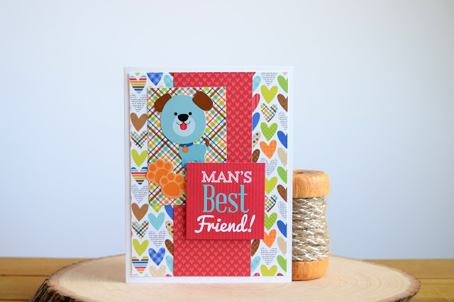 Dog Themed Card by Jess Gerstner featuring Doodlebug Puppy Love