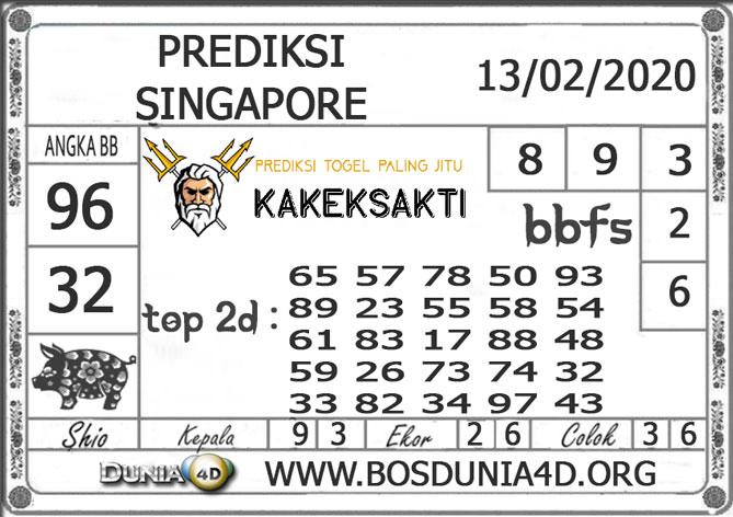 PREDIKSI TOGEL SINGAPORE DUNIA4D 13 FEBRUARI 2020