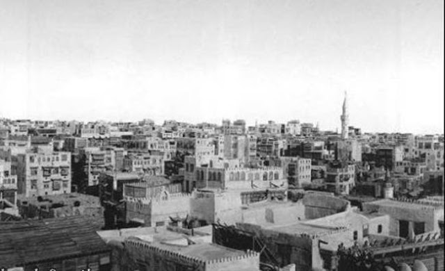 صورة مدينة جدة من شرفة القنصلية الفرنسية 1917م