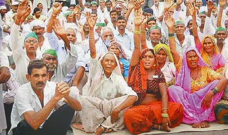 kisan andolan against land bill in india