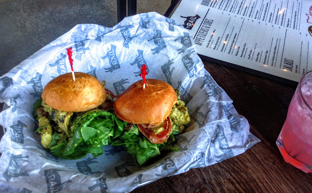 The Rail Strongsville   Curry chicken sliders