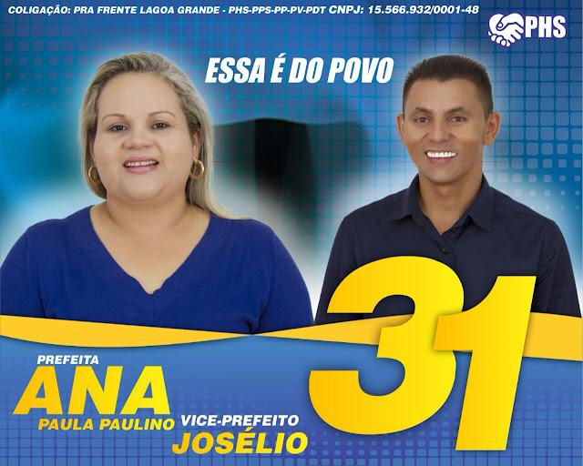 Resultado de imagem para cartazes dos candidatos de lagoa grande