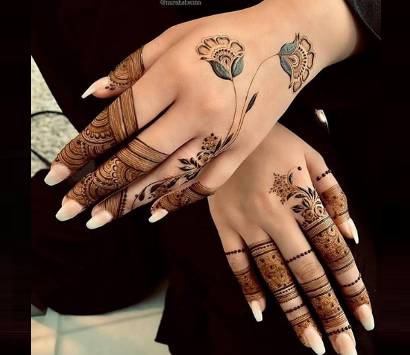 beautiful mehandi design for karva chauth