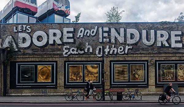 Graffiti en el barrio de Londres