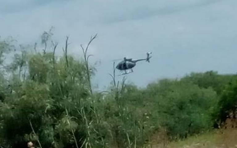Trasciende fuerte balacera desde helicóptero contra sicarios en Reynosa.