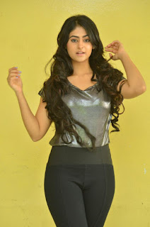 Actress Palak Lalwani in jeans and metallic tight T-shirt At Crazy Crazy Feeling Movie Press Navel Queens