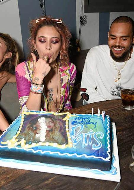 Paris Jackson celebrates birthday with Chris Brown