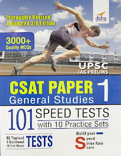 CSAT General Studies Paper1  101 Spped Test by Disha Publication Book