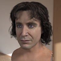 3d model Paul McGann Eighth Doctor head