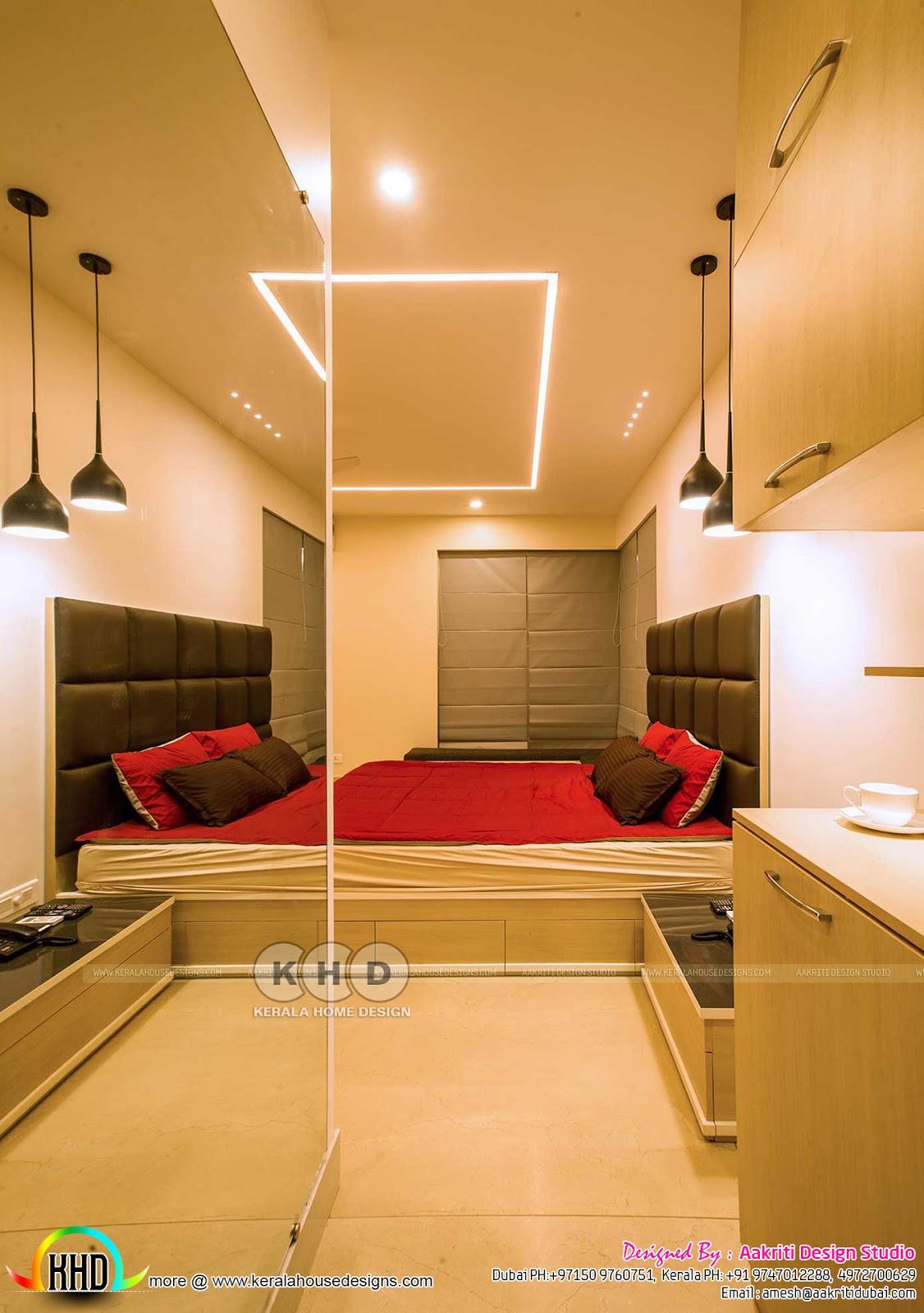 Home Interior Design Foyer: Finished Villa Interiors Designs