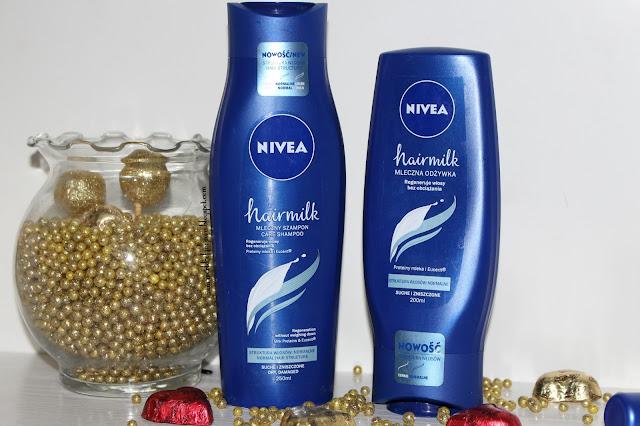 Mleczna kolekcja do pielęgnacji włosów NIVEA HAIRMILK