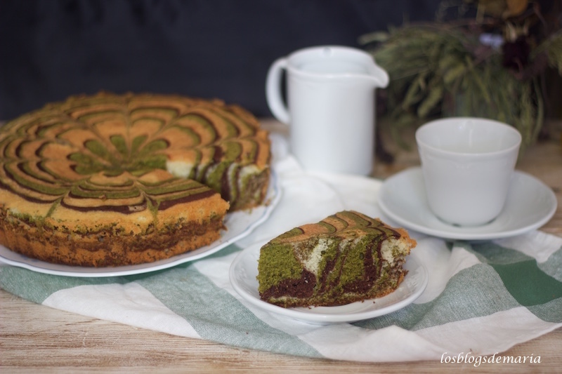 Bizcocho con Té Marcha y Chocolate