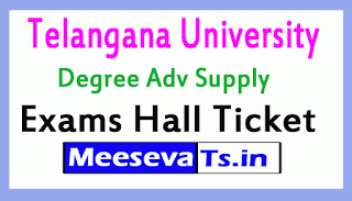Telangana University Degree Adv Supply Exams Hall Ticket