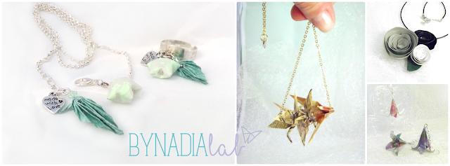 collage gioielli origami bynadialab