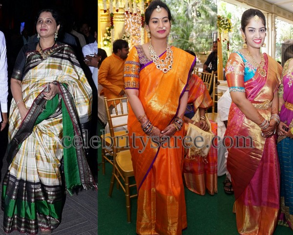 Pretty Ladies in Kanjeevaram Sarees